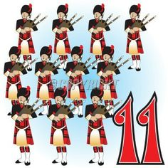 12 Days of Christmas History | The 12 Days Of Christmas Illustration. Vector Illustration ...