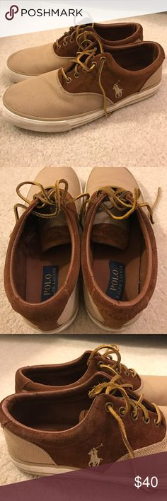 Men's Polo Ralph Lauren Sneakers. Brown Polo Ralph Lauren Sneakers. Gently worn. Beautiful. Polo by Ralph Lauren Shoes Sneakers