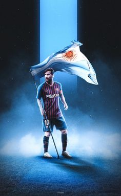 lionel andres messi with Argentina flag - Football Player Messi, Messi Soccer, Football Soccer, Football Players, Messi Logo, Lional Messi, Messi Pictures, Messi Photos, Messi Argentina 2018