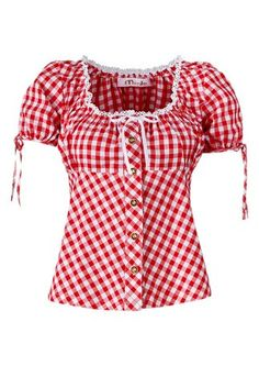 Love this pretty, summer picnic perfect tracht blouse. #dress #German #tracht #dirndl #blouse #vintage #gingham