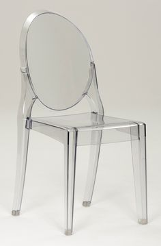 Crystall Ghost Chair- a cheaper knock-off version of the Philippe Starck design.