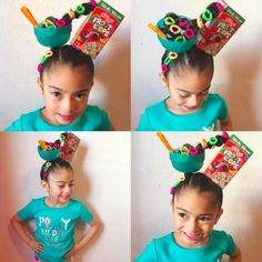 A look at the different creative hairstyles from Crazy Hair Day at schools across the country.