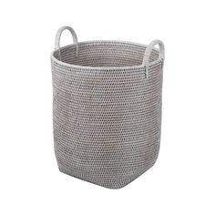 Add a rustic touch to interiors with this High Coco Basket from Baolgi. Its minimalistic curvature has been crafted from woven rattan and brings natural chic to any room the basket is used in. Two lar