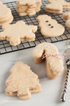 These Gluten-Free Dairy-Free Sugar Cookies from Allergy Free Alaska are so good!