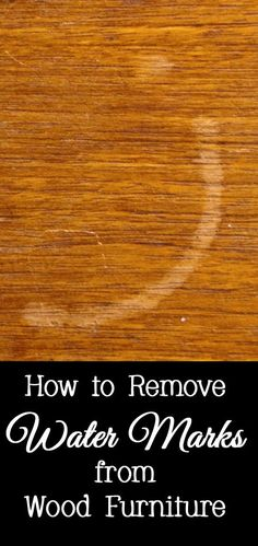1000 Ideas About Remove Water Rings On Pinterest How To