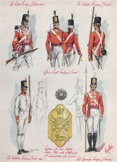 British; 35th(Sussex) Regiment of Foot. Third of 3 plates by Charles C.Stadden covering the regiment from 1803-10.