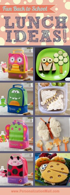 Cute school lunch ideas for kids ... this blog is really cute and has tons of great ideas!