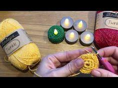 Crochet Christmas Ornaments, Holiday Crochet, Crochet Gifts, Free Crochet, Knit Crochet, Christmas Decorations, Tea Light Candles, Tea Lights, Afghan Patterns