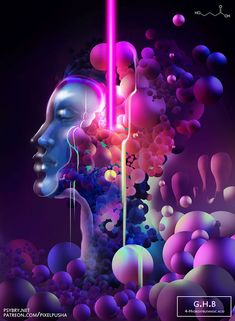 O designer gráfico Brian Pollett teve uma ideia ousada (e perigosa): ele usou uma droga diferente por dia, durante vinte dias, para ver como seus efeitos afetavam suas ilustrações.efeitos drogas arte 2