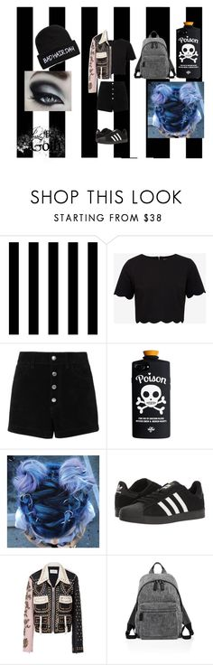 """""""bad girl"""" by katiepeters2005 ❤ liked on Polyvore featuring Tempaper, Ted Baker, rag & bone/JEAN, adidas, Rodarte and Marc Jacobs"""