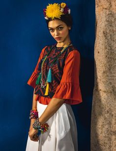 June 2016 issue of Glamour Italy has Zhenya Katava posing in Mexico and photographed by Matteo Bertolio.