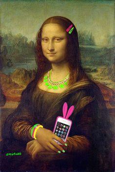 Monalisa 2 on Behance Aesthetic Drawing, Aesthetic Grunge, Monalisa Wallpaper, Mona Lisa Drawing, Bd Pop Art, Famous Art Pieces, Mona Lisa Smile, La Madone, Mona Lisa Parody
