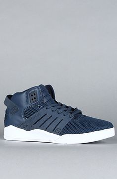 $70 Supra The Skytop III Sneaker in Navy Blue Action Leather - Use repcode SMARTCANUCKS for 10%off on #PLNDR - http://www.lovekarmaloop.com