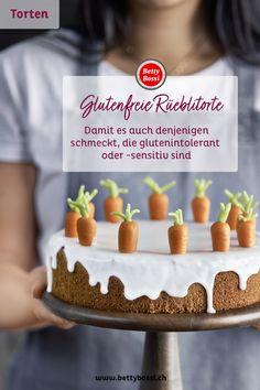Eine richtig schöne Rüeblitorte, wie wir sie in der Schweiz so lieben. Jetzt auch glutenfrei. Dairy Free Recipes, Gluten Free, Free Food, Foods, Cake, Desserts, Gratin, Gluten Free Flour, Dairy Free Foods