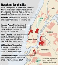 MAP: Since taking office in 2002, NYC mayor Bloomberg has overseen broad zoning changes.