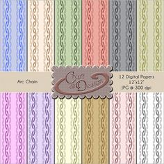 Printable Scrapbook Paper Pack  12 digital  papers by CraftNDesign, $3.00