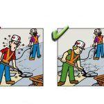 Yanlış ve Doğruları ile İnşaatta İş Güvenliği | İnşaat Gündemi Safety Cartoon, Safety Posters, Atvs, Health And Safety, English, Baseball Cards, Signs, Shop Signs, English Language