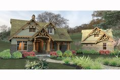 Craftsman Style House Plan - 3 Beds 2 Baths 1421 Sq/Ft Plan #120-174 Exterior - Other Elevation - Houseplans.com