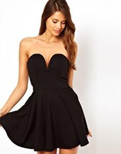 Mini Straplez Gece Elbiseleri - Siyahı Seviyorsanız Bu Abiye Modelleri ne bayılacaksınız