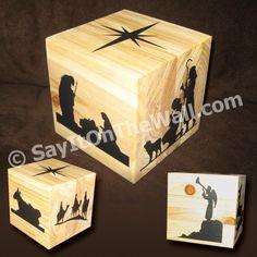 Nativity Story Cube--Great way to teach the Nativity story