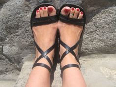 Strappy Sandals, Comfortable Leather Sandals, Roman Greek Style, Ankle Strap - Epic