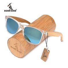 72e61fefbb57 BOBO BIRD Clear Frame Sunglasses with Bamboo Legs and Polarized Lenses