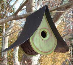 Handmade Birdhouses  A Beautiful RAINDROP Design by MikeMerrittArt, $60.00