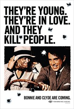 Bonnie and Clyde - Dir. by Arthur Penn; Written by David Newman and Robert Benton: Starring Warren Beatty as Clyde Barrown and Faye Dunaway as Bonnie Parker Bonnie Clyde, Bonnie And Clyde Movie, Bonnie Parker, Bonnie And Clyde Quotes, Faye Dunaway, Martin Scorsese, Alfred Hitchcock, Stanley Kubrick, Westerns