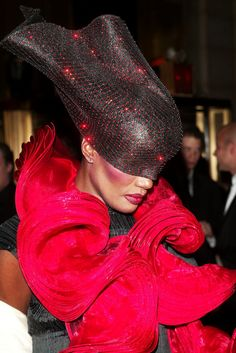 Grace Jones - 2003....please lady gaga don't copy this look too! lol