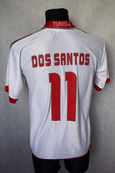 Tunisia National Football DOS SANTOS #11 2004/2005 Jersey Shirt Puma sz S (051) #Nike #Tunisia