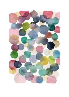 Color bubbles  Nursery room decor giclee print by LouiseArtStudio, $25.00