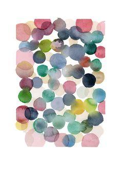 Color bubbles  Nursery room decor giclee print by LouiseArtStudio, $25.00