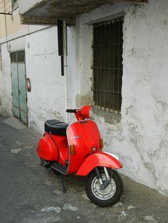 Scooters of Minori, Italy