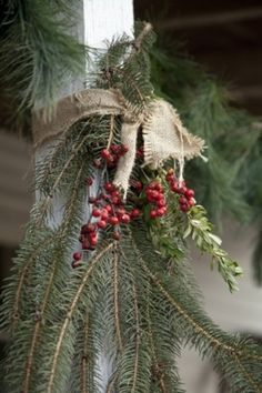 Christmas Ideas by Country_gal.   great for top of railing on front porch - or under mail box?