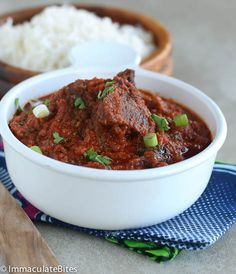 African beef stew - a slowly simmered sauce with healthy spices and herbs.