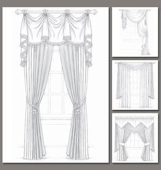 Pattern for fancy curtains