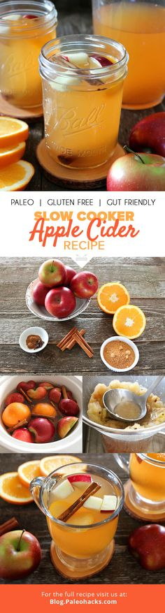 This easy Slow-Cooked Apple Cider will have your whole house smelling like spiced apples. Great for parties or for cozying up to someone on a chilly night. Get the recipe here: http://paleo.co/appleciderrcp