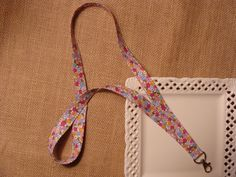 Fabric Lanyard  Flowers All Over by crafting4u on Etsy, $6.00  https://www.etsy.com/listing/118581344/fabric-lanyard-flowers-all-over?ref=sr_gallery_17&ga_order=date_desc&ga_view_type=gallery&ga_page=5&ga_search_type=all