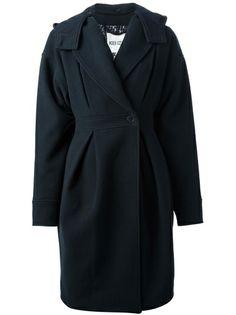 KENZO Hooded Cocoon Overcoat