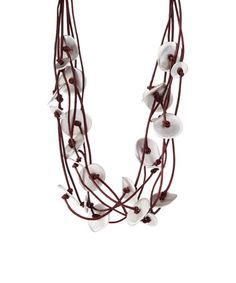 Look what I found on #zulily! Red Leather & Silvertone Multi-Layer Necklace #zulilyfinds