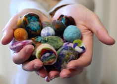 Geode Felted Shapes, Balls and Beads with Rae Woolnough #craftartedu