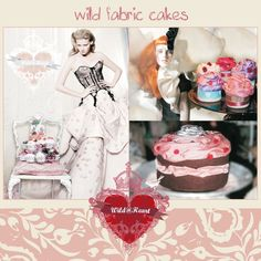 fabric cakes and cupcakes