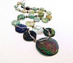 necklace, ancient roman glass ~ thesilverbear