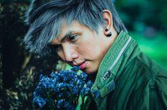 """""""マスクと花"""" by Ryan Lu Jalandoni Dreadlocks, Lost, Hair Styles, Beauty, Hair Plait Styles, Hairdos, Hair Looks, Cosmetology, Haircut Styles"""