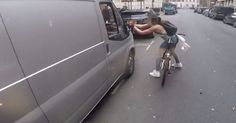 Badass cyclist gets revenge on catcalling van drivers