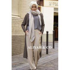 Pantalon Large Giorgia Beige · Hijab StyleHijab