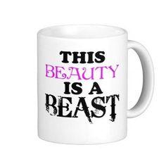Beauty Is A Beast Mug by TalkieAboutCoffee on Etsy