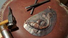 Repousse Koi in copper.   Darpinian made