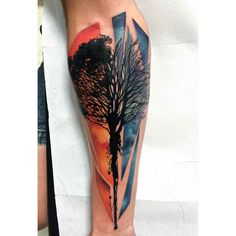 Tree Silhouette Tattoo