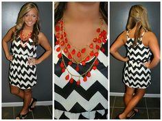 Chrvron dress
